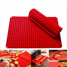 2 Pack Pyramid Baking Tray Healthy Silicone Oven Mat Fit Non Stick Fat Reducing