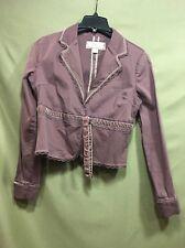 Plugg Women's Plum Crop Jacket, Coat, Motorcycle Lightweight L Designer