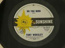 "TONY WORSLEY REACHING OUT  SUNSHINE orig OZ GARAGE ROCK BEAT  7"" 45"