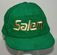 Vtg Salem Cigarettes Corduroy Tobacco Baseball Snap Back Cap Hat New NOS OSFA