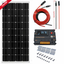 100W 12V Mono Module Solar Panel Kit w/ 10A LCD USB Charging Controller RV HOME