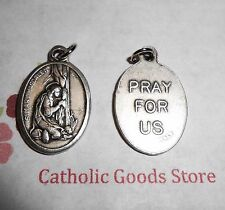 Saint St. Mary Magdalene - Italian Antique Silver tone OX 1 inch Medal