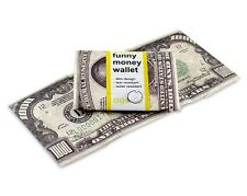 DYNOMIGHTY MIGHTY WALLET FUNNY MONEY TRIFOLD SUPER THIN DURABLE TYVEK TF-001