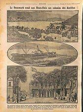 Port Danish West Indies United States Virgin Islands Charlotte Amalie 1916 WWI
