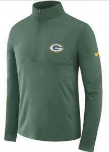 Nike Men's Green Bay Packers Fan Gear Element 1/2 Zip Pullover Jacket XXL 2XL