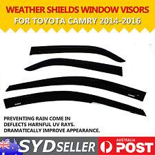 Car Window Visors Weathershields Weather Shields Fit Toyota Camry SEDAN 14 - 16