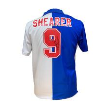 ALAN SHEARER SIGNED BLACKBURN ROVERS 1994/95 NUMBER 9 FOOTBALL SHIRT COA & PROOF