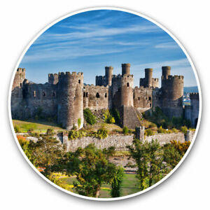 2 x Vinyl Stickers 15cm - Welsh Conwy Castle Wales Cool Gift #16376