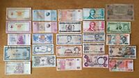 A COLLECTION OF 25 WORLD BANKNOTES.