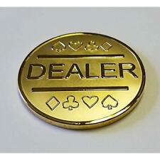 """Gold Plated Metal Dealer Button Poker Games Such As Texas Hold'em Sports """" &"""