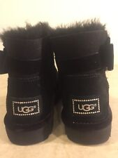UGG CLASSIC KARLIE BROOCH BLACK CRYSTAL BOOT US 5 $185