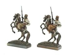 Two Arabian horse and rider bookends, Paul Herzel Lot 1093