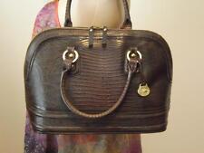 Brahim Brown Pecan Melbourne Snakeskin Leather Satchel Business Bag Large