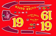 #19 Roger Ward Filter Queen Indy 1956 1/64th HO Scale Slot Car Decals