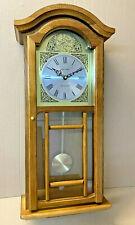 Fox & Simpson Wanduhr mit Westminster Glockenschlägen, Eichenholz, Pendel