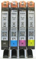 Canon Genuine CLI-571Bk CLI-571C CLI-571M CLI-571Y Set. New / Sealed