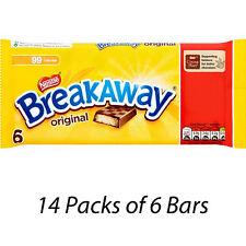 NESTLE BREAKAWAY MILK MULTIPACK OF 6 CHOCOLATE BISCUIT BARS x 14 PACKS 226863