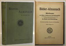 Bäder-Almanach 1913 Luftkurorte Heilanstalten Medizin Geografie Geographie sf