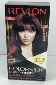 REVLON ColorSilk Buttercream Hair Color 48BV Burgundy Vivid Color NEW IN BOX
