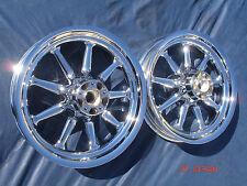 Harley Chrome 9 Spoke Deluxe Heritage FLSTC Wheels Rims 2000-2007 FLSTF Fat boy