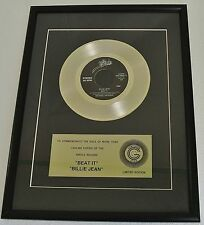 """Michael Jackson Certified gold """"Beat it"""" """"Billy Jean"""" Framed Gold Record 1980s"""