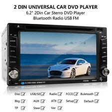F6002B Bluetooth HD 6.2Inch Touch LCD USB AUX SD FM 2DIN MP5 Car DVD CD Player