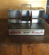 New ListingVintage Auto-Lite Silver Sheathed Cable automobile Cabinet Caddy Display Gas Oil