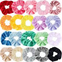 10/20Pcs Women Elastic Hair Scrunchies Velvet Hair Bands Scrunchy Rope Ties Gift