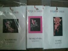 Designs in Thread Cross stitch kits Pink Fairy, Pink Blossom Fairy and Elf Fairy