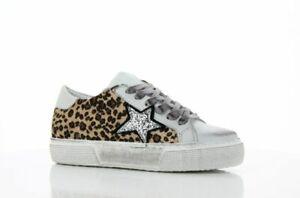 scarpe sneakers basse donna ozelot silver stella glitter argento fondo alto
