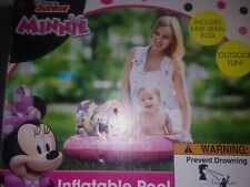 """Minnie Mouse Inflatable Kiddie Swimming Pool 36"""" with Repair Kit New"""