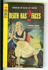 DEATH HAS 2 FACES by Herries rare US Ace #S97 crime sleaze gga pulp vintage pb