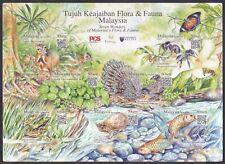 Malaysia 2016 Seven Wonder of Malaysia Flora and Fauna MS Mint Unused