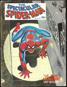 THE SPECTACULAR SPIDERMAN 1 1968 LO THIS MONSTER MARVEL COMICS STAN LEE MAGAZINE