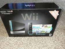 Black NINTENDO Wii Console Motion Plus w/Nunchuk Ex Cond - NO Games included