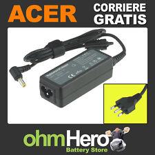 Alimentatore 19V 1,58A 30W per Acer Aspire One KAV60