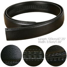 Genuine Leather Strap Waist Belts Waistband Ratchet Replacement No Buckle Men