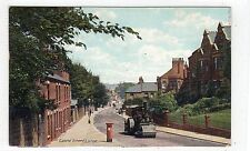 CASTLE STREET, LUTON: Bedfordshire postcard with road roller (C25686)