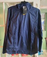 Men Nike Lightweight Pullover Navy Running Sweater Comfort Pocket AO5973-423 M