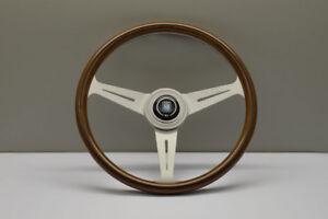 NARDI ND CLASSIC 360MM WOOD Silver Anodized Spoke Steering Wheel - 5061.36.1000