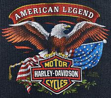 Vintage 80s 1985 3D EMBLEM HARLEY DAVIDSON Eagle Long Sleeve Thermal T SHIRT S