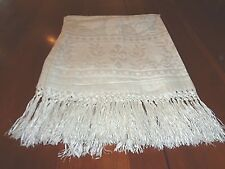 Antique Irish Linen Damask Bath Towel  Never used