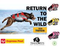 Dog Harness Life Jacket Helios Splash Explore Pet Adjustable Buoyant Floatation