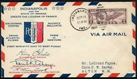 993 - Stati Uniti - Transatlantic flyers Paris to New York su busta, 17/09/1930