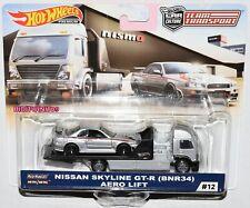 HOT WHEELS 2019 CAR CULTURE TEAM TRANSPORT CASE E NISSAN SKYLINE GT-R (BNR34)