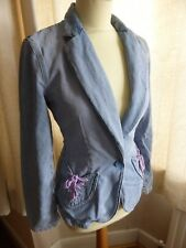 See By Chloe fitted casual denim blazer jacket 12 VGC summer