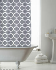 Country Club Shower Curtain 180x180 Moroccan Grey Modern Contemporary