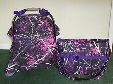 *MOONSHINE MUDDY GIRL**camo w/Diaper Bag/tote Handmade Car Seat Canopy-Cover