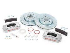 """BAER Brake System 13.5"""" Front PRO 6P Kit - Silver / Red 07-16 Jeep Wrangler JK"""