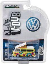 VW T2 Bus Westfalia Camper Flower Power  Volkswagen 1968 *** Greenlight 1:64 NEU